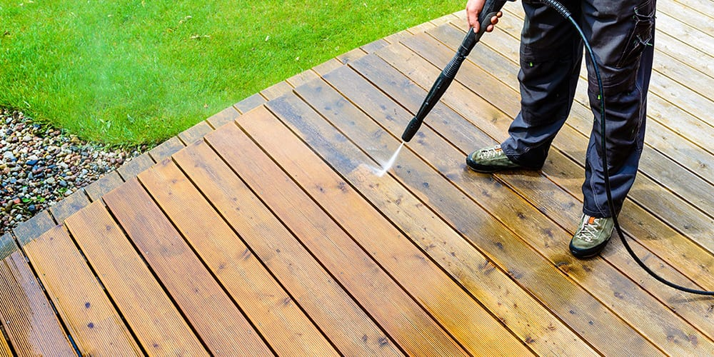 Cleaning timber decking Buy Acura Developments